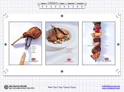 Ron Cramer, Creative Director: Portfolio Website